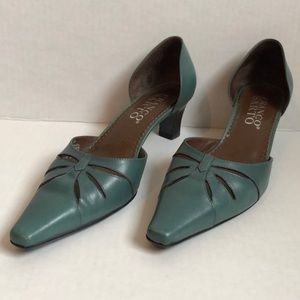 "Franco Sarto Leather size 6M Teal 2"" Heel"